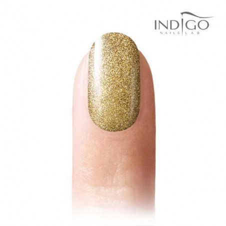 gel polish glitter Rich Gold